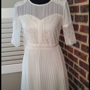 NWT beautiful white lace dancer dress from ASOS